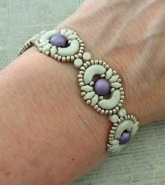 Linda's Crafty Inspirations: Bracelet of the Day: Tweaked Jolie Band - Mint & Purple