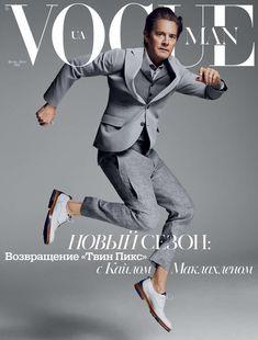 Kyle MacLachlan en portada de Vogue Man Ukraine Spring/Summer 2017