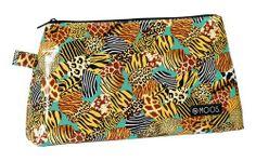 Neceser diseñado por Moos para su línea de neceseres Animal Print. Dimensiones: 36 cm x 9 cm x 20 cm.