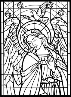 Angel adult coloring pages coloriage ange adulte pages a colorier ange a imprimer. Dover Coloring Pages, Angel Coloring Pages, Free Printable Coloring Pages, Coloring Pages For Kids, Coloring Books, Free Printables, Kids Coloring, Stained Glass Angel, Christmas Coloring Pages