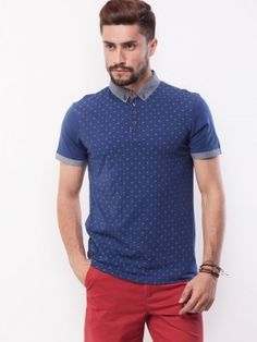New Look Ditsy Print Polo purchase from koovs.com Ditsy, Polo Shirt, T Shirt, New Look, Mens Tops, Fashion, Supreme T Shirt, Moda, Polos