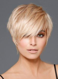 Love this with a shorter bang...love color.
