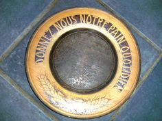 antique french bread board with quote!!!!