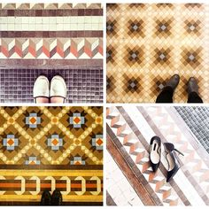 We love seeing our guests taking pictures of the beautiful #tiles at the #PraktikRambla hotel - these ones were taken by @petitepassport @tlnique @tileaddiction and @patriciagoijens #tile #tileaddiction #hotel #Barcelona #interiordesign