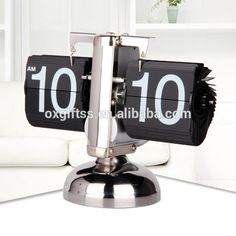 OXGIFT China Supplier Wholesale Amazon Factory price Metal pvc Balance Flip alarm clock