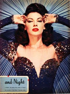 Ava Gardner 1940s. Old Hollywood classic. Love