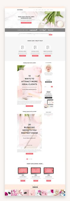 This theme is compatible with WooCommerce and designed for all of the girl bosses, lady entrepreneurs, and bloggers alike who want to showcase their business online in an elegant, professional way. The above-the-fold call to action will help you increase conversions to sign up for your email list. #BusinessTheme #FeminineWordPress #PremiumWordPress #VirtualAssistant #GirlBoss