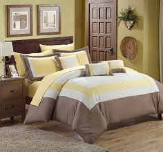 Chic Home 10-Piece Duke Bed in a Bag, Queen, Yellow