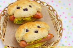 ★How to make the dog bread★   Make the dough from your favorite bread recipe, using a bread maker.  Select DOUGH mode.  When it's done,...