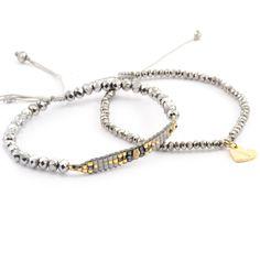 Chan Luu - Grey Mix Heart Charm Bracelet Set, (http://www.chanluu.com/bracelets/grey-mix-heart-charm-bracelet-set/)