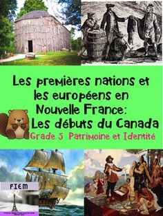 """French Immersion, Grade 5 Sciences SocialesIntegrate this resource in your social studies unit about """"Les Premires Nations et les Europens en Nouvelle France: Les dbuts du Canada"""" with accurate information at the reading level of your French Immersion students!This resource is intended to develop the vocabulary and content about this """"Patrimoine et Identit"""" unit in French, support the understanding  and impact of the role of New France in our lives and provide  students with some activities… Study French, French Immersion, Teaching Social Studies, Reading Levels, Social Science, Fourth Grade, Vocabulary, Homeschool, Canada"""