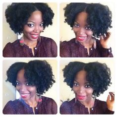 Braid and curl: natural hair style @msnaturallymary