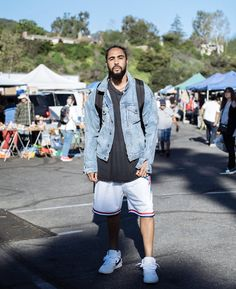 What They're Rocking // Jerry Lorenzo Cozy Fashion, Daily Fashion, Mens Fashion, Fashion Outfits, Mitchell And Ness Shorts, Mens Clothing Styles, Short Outfits, Swagg, Street Wear