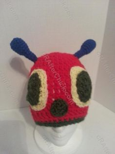 The Very Hungry Caterpillar Beanie Hat Crochet Pattern for Story Reading Time Alternate View