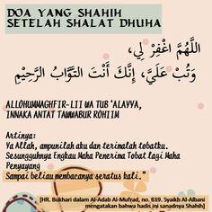 DOA YANG SHAHIH SETELAH SHALAT DHUHA