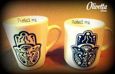 """Tazas """"Protect Me"""" Mugs, Tableware, Dinnerware, Cups, Tumbler, Dishes, Mug, Serveware"""