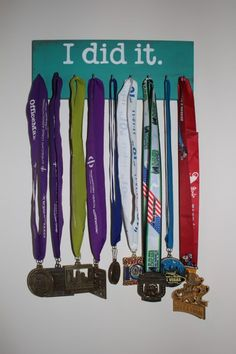 Display for running medals.