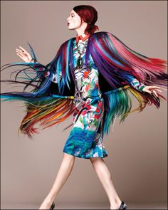 Vogue Mexico feather brights #colorfulexistance