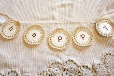 I love this card & crochet bunting from Itsy Bits and Pieces