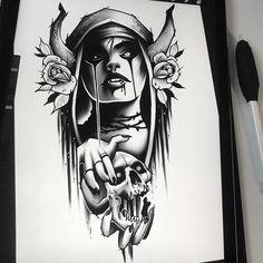 Ozzy Tattoo, Neo Tattoo, Tattoo Drawings, Full Arm Tattoos, Cool Tattoos, Japan Tattoo Design, Neo Traditional Tattoo, Flower Tattoo Designs, Future Tattoos