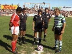Capitão Diamantino, antes do sporting da Covilhã -  0 / Benfica - 3, a 23 de Agosto de 1987.