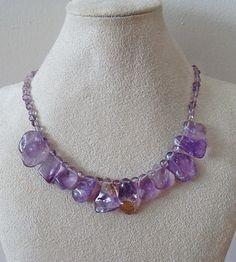 Amethyst Necklace Amethyst Jewelry Ametrine by LavishGemstone, $55.00