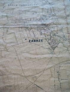 Map of Zabrze (Silesia) in 1905 Foto: Kamil Żbikowski www.facebook.com/MiejscaWZabrzu/photos/a.503710729762530.1073741836.383897218410549/649688755164726