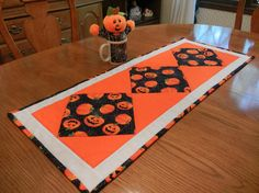 Halloween Table Runner Quilted Patchwork by TheSandlapperShop, $37.00