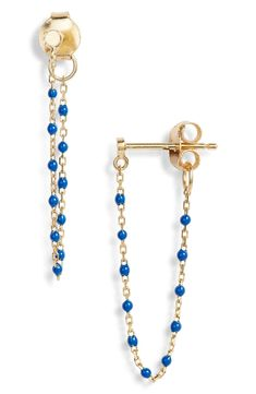 Main Image - Argento Vivo Chain Bead Drop Earrings