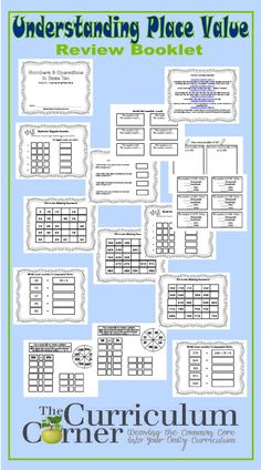 Understanding Place Value Practice Booklet - 18 pages, designed to meet CCSS 2nd grade FREE from The Curriculum Corner