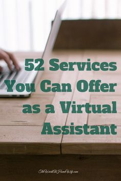 52 Services You Can Offer as a Virtual