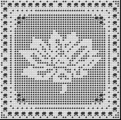 free waterlily filet crochet pattern