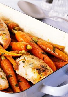 Oven-Roasted Chicken Breasts & Carrots – The secret to this tender, juicy, delicious chicken breast recipe that makes it perfect for your dinner table? It's baked with a mixture of Italian dressing and fresh lemon juice!