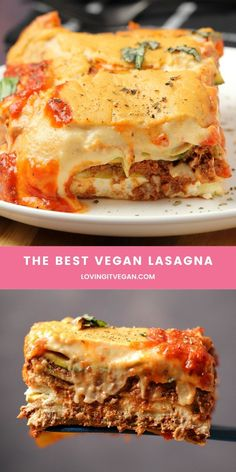 This vegan lasagna recipe is seriously decadent. Layers of vegan bolognese, vegan ricotta, vegan cheese sauce and marina Best Cookie Recipe Ever, Best Dessert Recipe Ever, Best Dinner Recipes Ever, Best Soup Recipes, Vegan Dinner Recipes, Best Cookie Recipes, Yummy Recipes, Keto Recipes, Vegetarian Recipes
