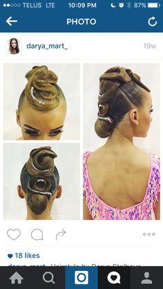 Amazing dancesport hair