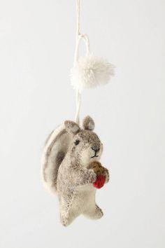 Nutty squirrel ornament anthropologie $16