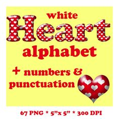 English  alphabet clipart with letters numbers and by LucyPlanet