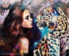 """Aligned Destiny by Dimitra Milan """"The stars shine for her, to inspire and light a burning passion in her heart. She is a fierce leader, overcoming the things that elude her and lighting the way for future generations. Diy Painting, Painting & Drawing, Painting Inspiration, Art Inspo, Dimitra Milan, Gcse Art, American Artists, Amazing Art, Fantasy Art"""
