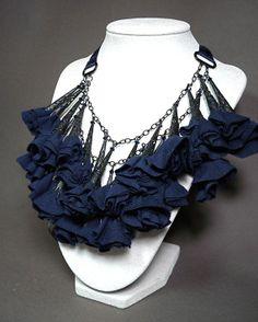 Silk Flower Necklace