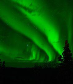 #green #aurora #nightsky