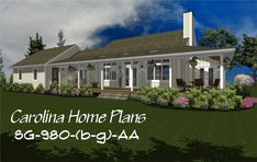 Our popular small contemporary cottage plan now comes with an attached garage. 3d House Plans, Porch House Plans, Small House Plans, Small Cottage Plans, Cottage House Plans, Cottage Homes, Contemporary Cottage, Breezeway, Bedroom Layouts