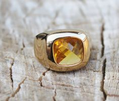 Vintage Mens Yellow Citrine Ring by Gener8tionsCre8tions on Etsy, $95.00