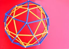 Engineering for Kids: Straw Geodesic Dome & Sphere - Babble Dabble Do Science Projects, Projects For Kids, Crafts For Kids, School Projects, Project Ideas, Art Activities For Kids, Stem Activities, Straw Sculpture, Drinking Straw Crafts