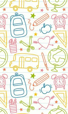 Wallpaper Iphone Cute, Cute Wallpapers, Wallpaper Backgrounds, Teachers Day Drawing, Doodles, Teachers' Day, Design Shop, Printable Coloring, Pattern Wallpaper