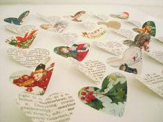 cute use of old cards or wrapping paper