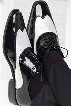 """Manhattan"" Black and White Frederico Leone Tuxedo Shoes"