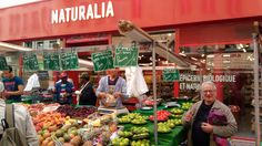 Bio food in Aligre maket. Bio Food