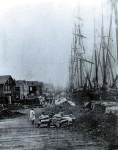 Erie's Waterfront (1852)  The Oldest Known Photo of Erie