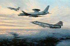 Norwegian F-104G FN-K intercepts a Tupolev TU-126