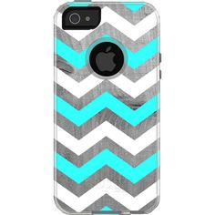 Tiffany and Driftwood Chevron Otterbox Commuter iPhone by TaBCase
